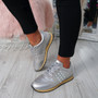 Nolla Grey Lace Up Trainers