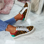 Tya Leopard Studded Trainers