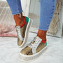 Tya Snake Skin Studded Trainers