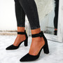 Bim Black Ankle Strap Pumps