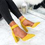 Bim Yellow Ankle Strap Pumps