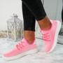 Huka Neon Pink Running Trainers