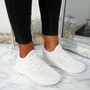 Huka White Running Trainers