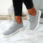 Ligia Grey Lace Up Trainers