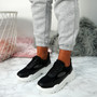 Fiza Black Chunky Sneakers