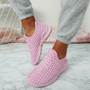 Sonia Pink Quilted Trainers