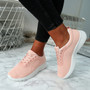 Lanyx Pink Lace Up Trainers