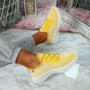 Nayra Yellow Mesh Trainers