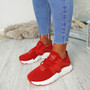 Ruth Red Mesh Trainers