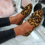 Ado Camel / Leopard Fringe Ballerinas