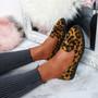 Erie Leopard Studded Fringe Ballerinas