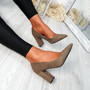 Ryam Khaki Court Pumps