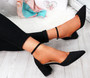 Canna Black Ankle Strap Pumps