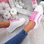 Herry Fuchsia Lace Up Trainers