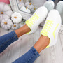 Herry Yellow Lace Up Trainers