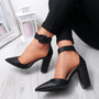 Cherra Black Block Heel Pumps