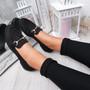 Itka Black Slip On Loafers