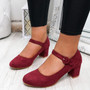 Seta Burundy Mary Jane Pumps