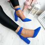 Bim Blue Ankle Strap Pumps