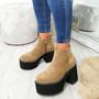 Garna Khaki Zip Ankle Boots