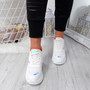 Bive White Chunky Trainers