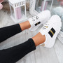 Elvem White Black Gold Sport Trainers