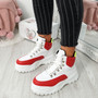 Lebba White Red Chunky Trainers