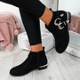 Giry Black Buckle Ankle Boots