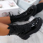 Coppa Black Biker Ankle Boots