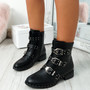Tappa Black Zip Ankle Boots