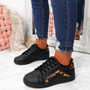Melya Black Leopard Trainers