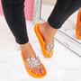 womens ladies rhinestone chunky flat sandals party women diamante peep toe casual summer shoes size uk 3 4 5 6 7 8