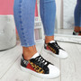 Veya Leopard Lace Up Trainers