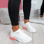 Bya White Pink Running Trainers