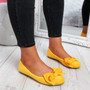 Sorra Yellow Bow Ballerinas