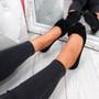 Sorra Black Bow Ballerinas