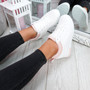 Pinna White Pink Wedge Trainers