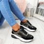 Fezy Black Chunky Trainers