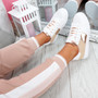 Solly White Pink Trainers