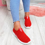 Hegy Red Slip On Trainers