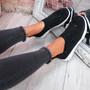 Zippy Black Studded Sock Trainers