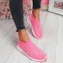Zippy Fuchsia Studded Sock Trainers