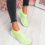 Zippy Green Studded Sock Trainers