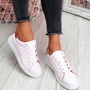 Miry Red Lace Up Trainers