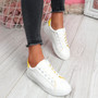 Miry Yellow Lace Up Trainers