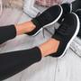Gummy Black Sport Sneakers