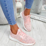 Evy Pink Knit Trainers