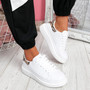 Dilla White Camel Snake Skin Trainers