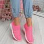 Kenny Fuchsia Studded Sock Sneakers