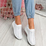 Kenny White Studded Sock Sneakers